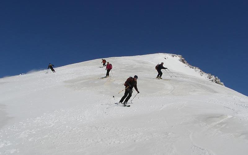 Skitouren Olymp mit Firnabfahrt vom Olymp