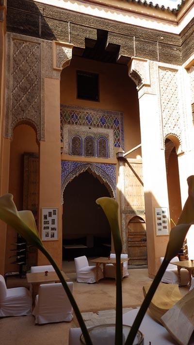 Riad in Marrakesch - Skitourenreise nach Marokko