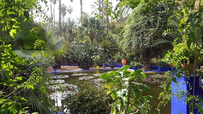 Jardin Majorelle in Marrakesch - Skitourenreise nach Marokko