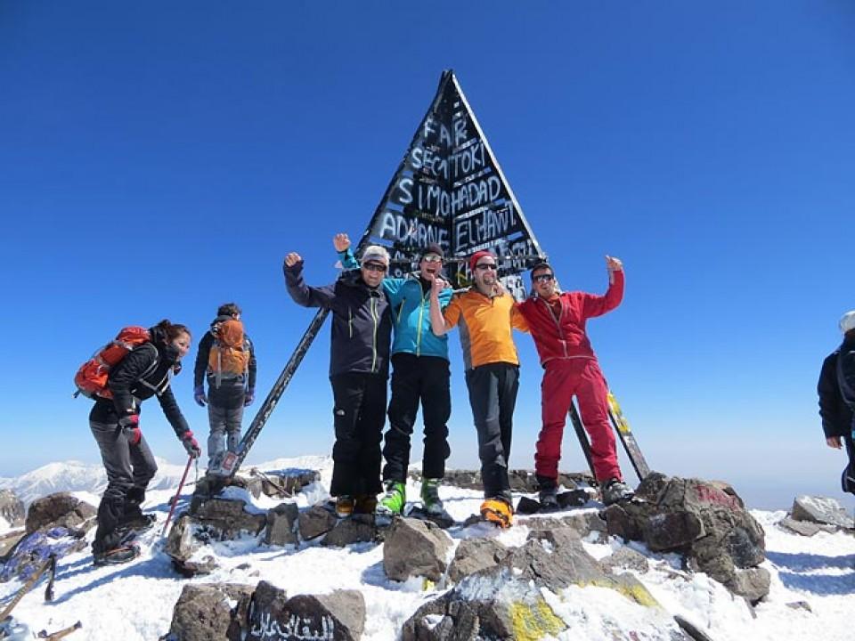 Skitouren Marokko - Auf dem Gipfel des Jebel Toubkal