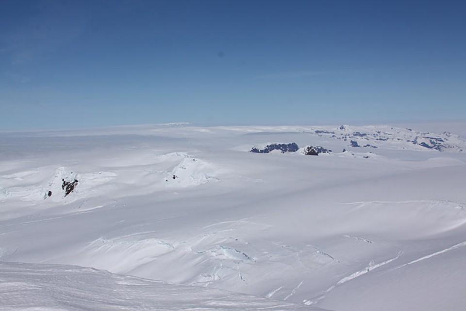 Blick über den Vatnajökull