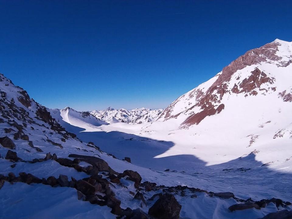 Aufstieg zu den Picos de los Infiernos (3080m), spanische Pyrenäen