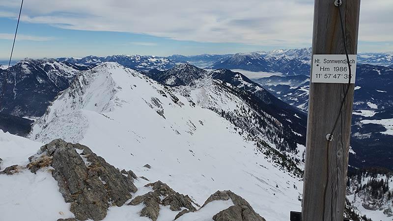 Die Krenspitze (1972m) ist der nächste Gipfel