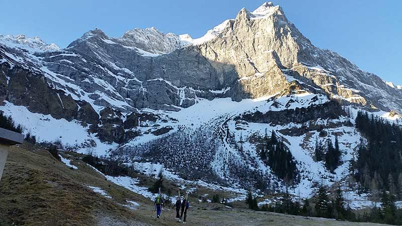 Skitour Hochglück - Start vom Bikedepot