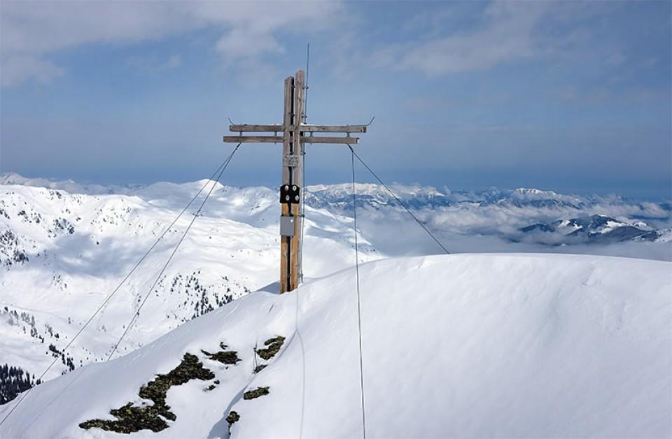 Gipfelkreuz der Pallspitze (2389m)