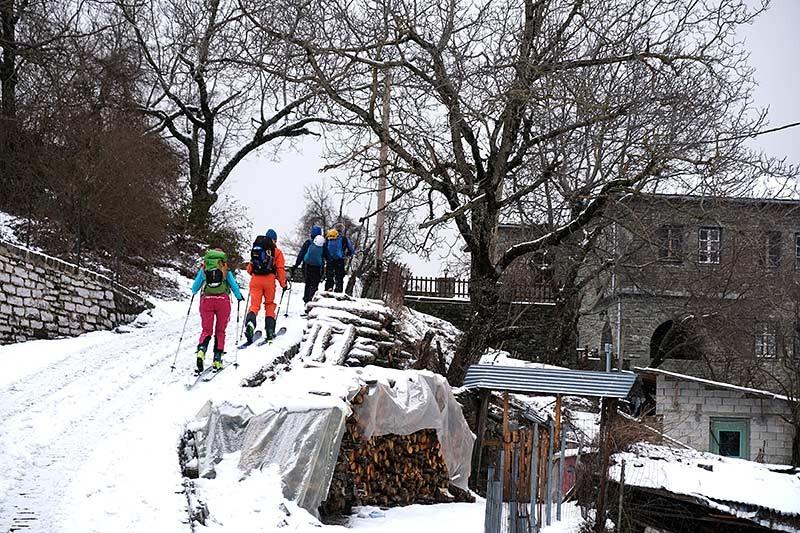 Zagori-Dorf - Start der Skitour vom Dorf nur selten möglich!