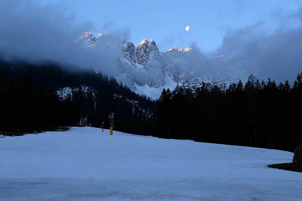 Skitour Hochwannig - Beim Start in Biberwier