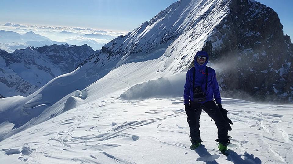 Als zweite Partie in diesem Winter auf dem Gipfel!