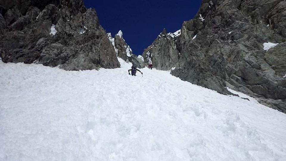 Der letzte Anstieg vor der Abfahrt ins Tal