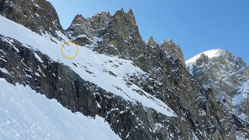 In der Steilflanke zum Col des Écrins