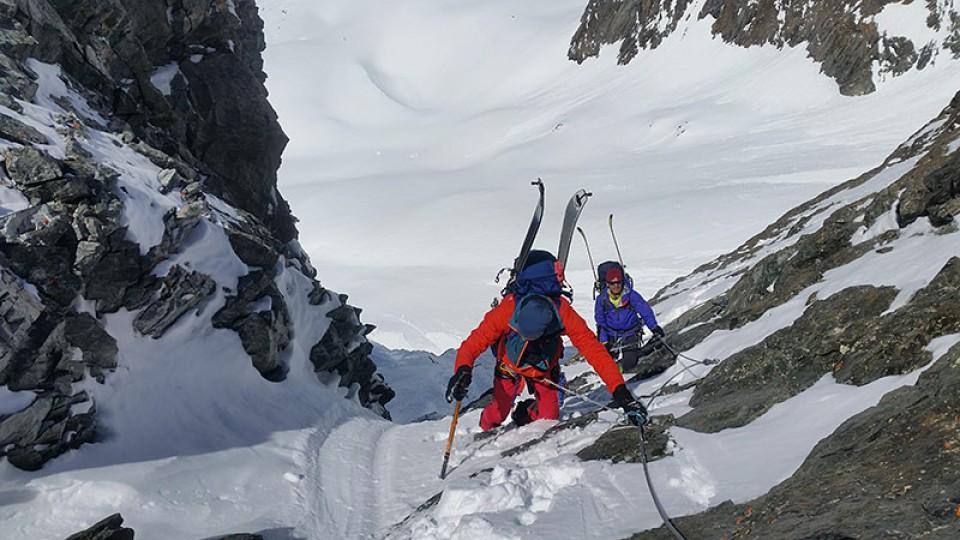 Die letzten Meter hinauf zum Glacier Blanc sind fast geschafft