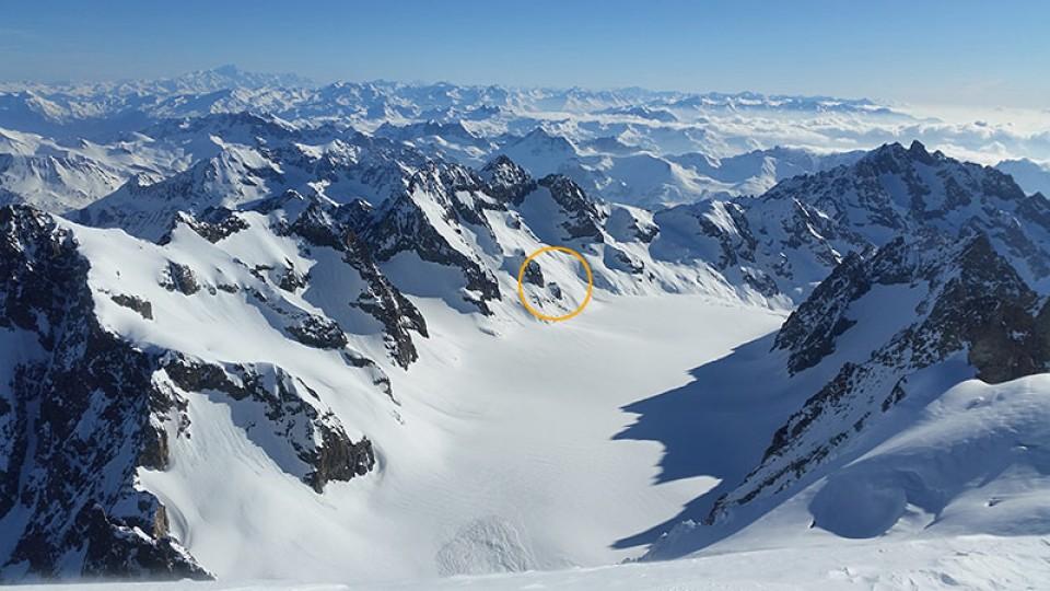 Blick auf den Glacier Blanc und das