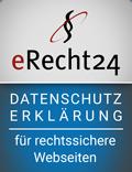 eRecht24 - für rechtssichere Webseiten