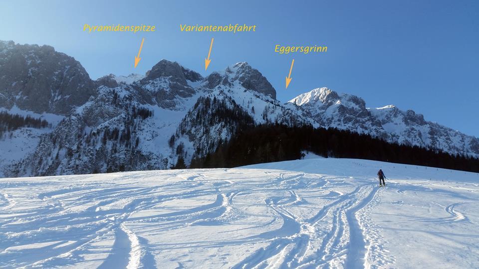 Skitour Eggergrinn - Start von der Aschingeralm