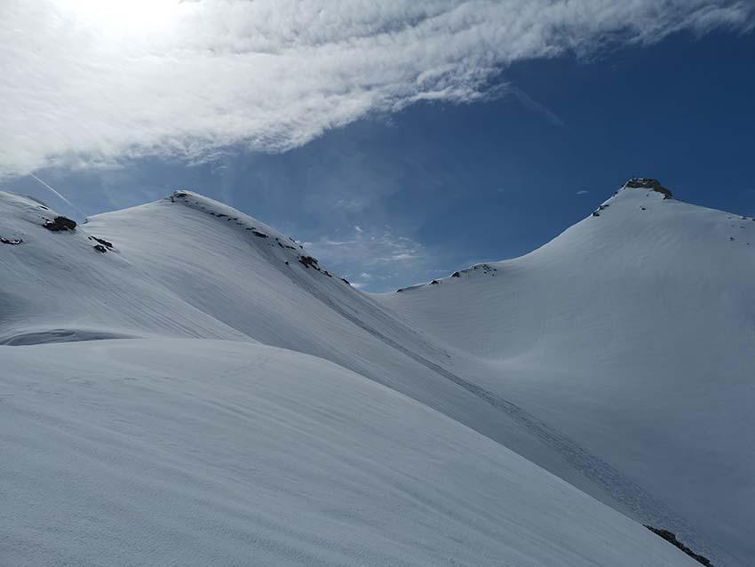 Links im Bild die Kleine Seekarspitze (2.624m) rechts die Große Seekarspitze (2.677m)
